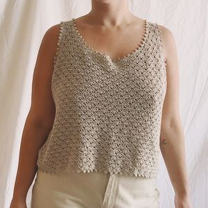 90s Boxy Crocheted Tank Top